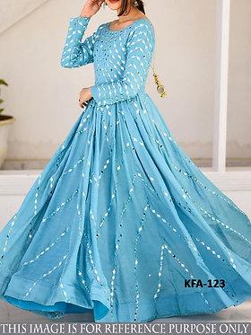 Buy New Latest Stylish Long Juric Slub Silk Gown