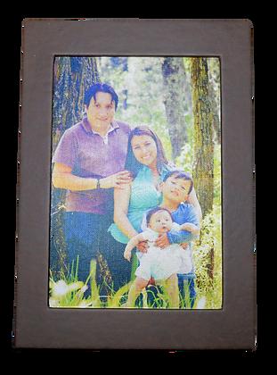 Portada de libro de fotos de familia
