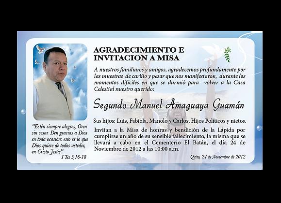INVITACIONES REQUIEM QUITO