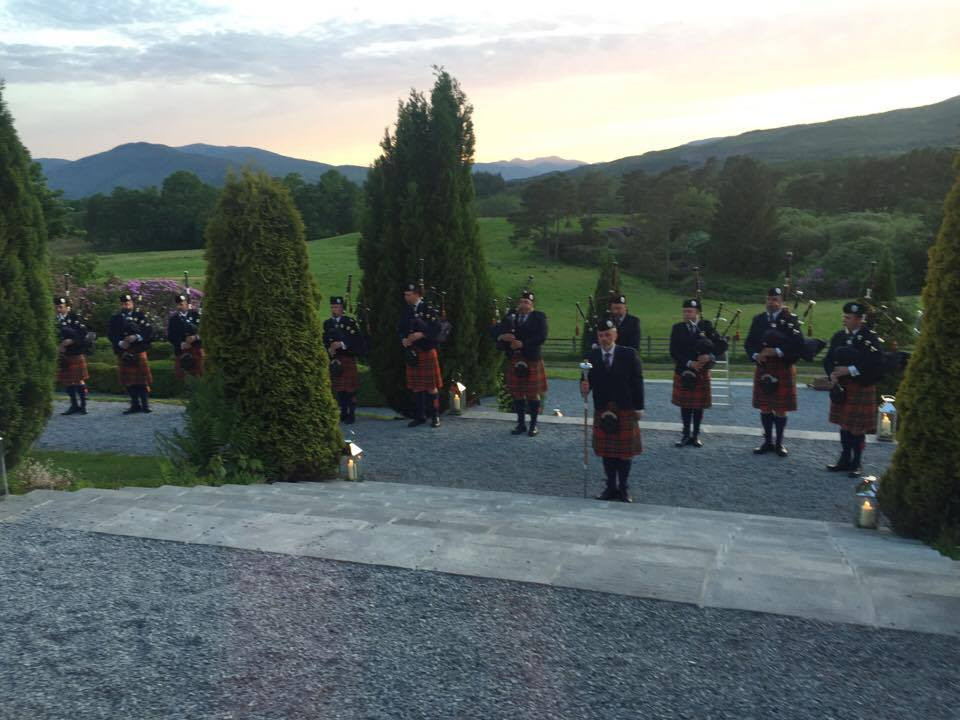 Pipers at Inverlochy Castle, Fort William
