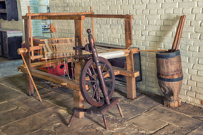 Romanian old age wooden loom machine for