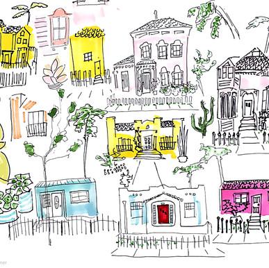 2020 Illustration: Walks through my neighborhood