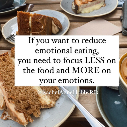 Emotional eating is less about food and more about emotions