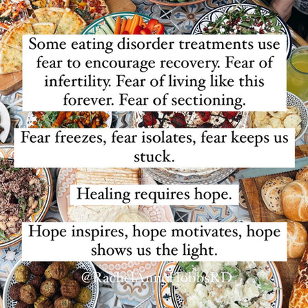 Fear freezes, hope inspires