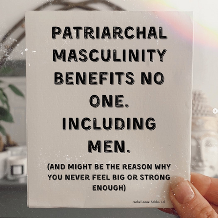 Patriarchal masculinity benefits no one