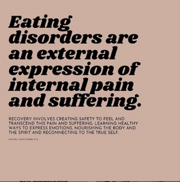 Eating disorders are an external expression of internal pain