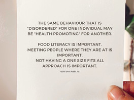 The same behaviour that is disordered for one individual may be health promoting for another