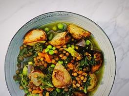 Green Lentil and Potato Stew