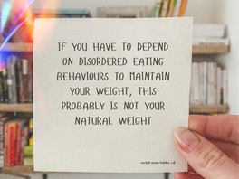 Your natural weight