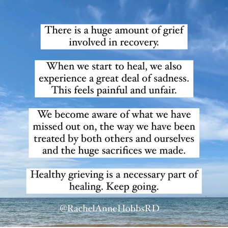 Healing involves grieving ....