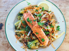 Asian Style Salmon Stir Fry