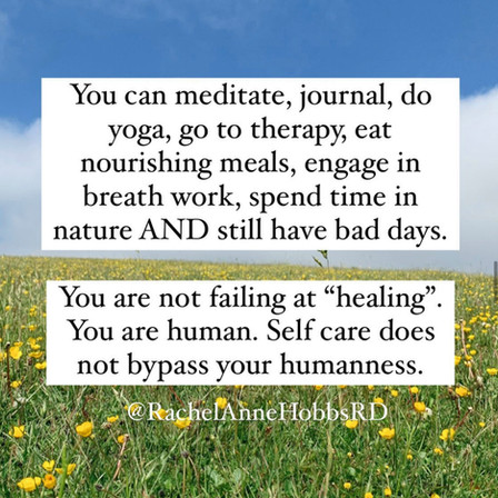 Self care does not bypass your humansess