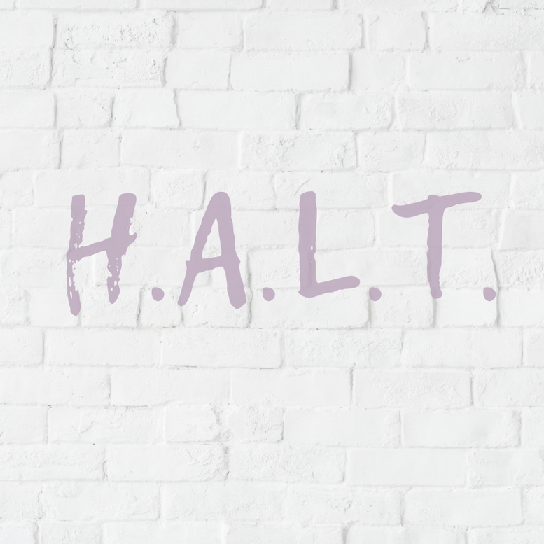 H.A.L.T. in recovery