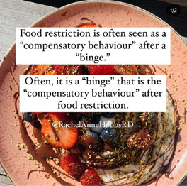 A binge is a natural result of dietary restriction