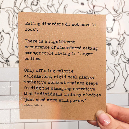 """Eating disorders do not have """"a look """""""