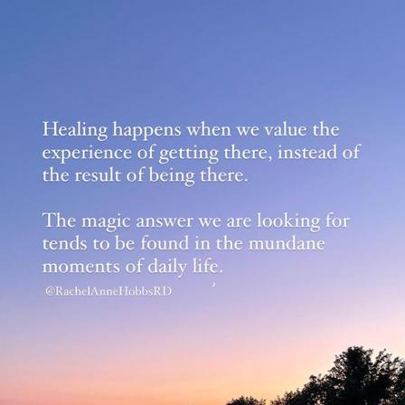 Healing, a note ....