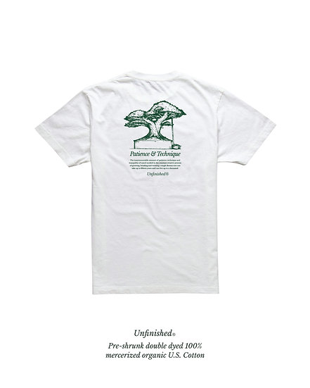 """""""Patience & Technique"""" - Cotton Tee in White"""