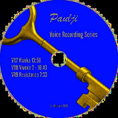 Voice Recordings 7-9