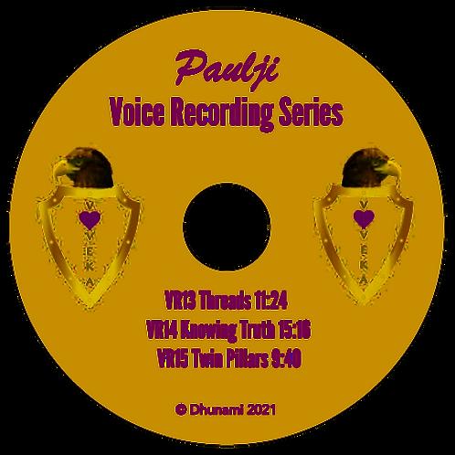 Voice Recordings 13-15