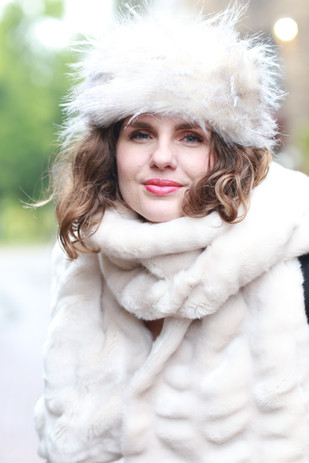 Faux Fur Hat and Scarf