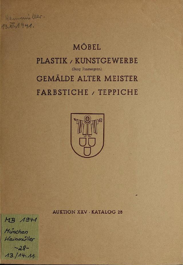 Catalogus Weinmüller 1941