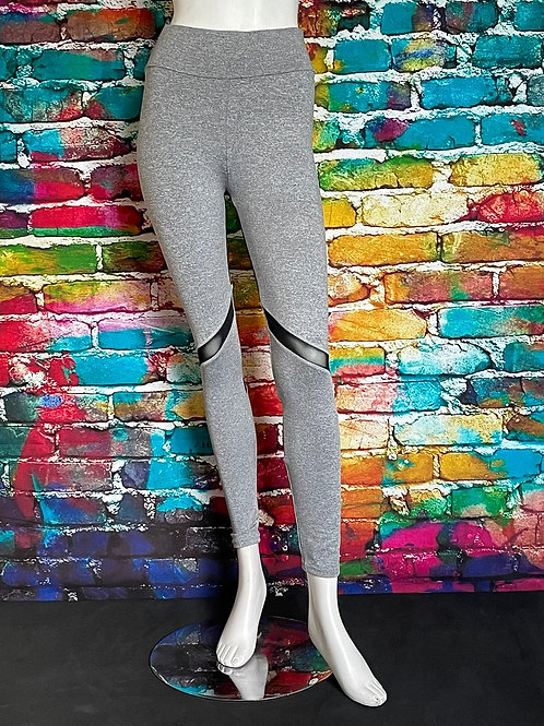 Solid Active Leggings Grey