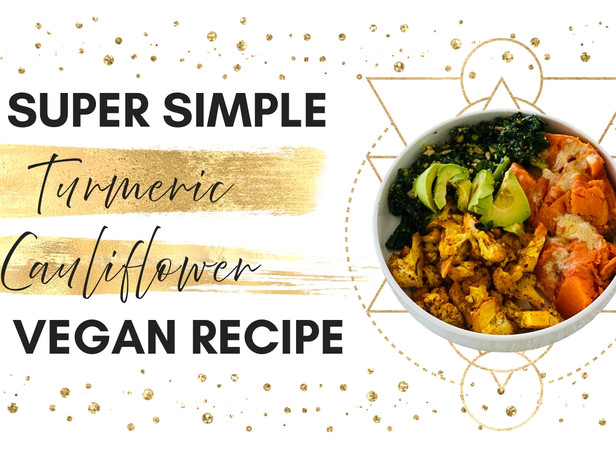 Super Simple Roasted Cauliflower with Turmeric Recipe | The Enlightened Kitchen