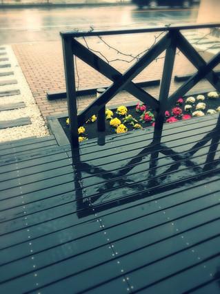 寒い雨の日