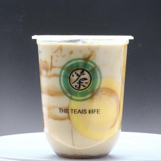 月圓厚奶茶/Pudding milk tea