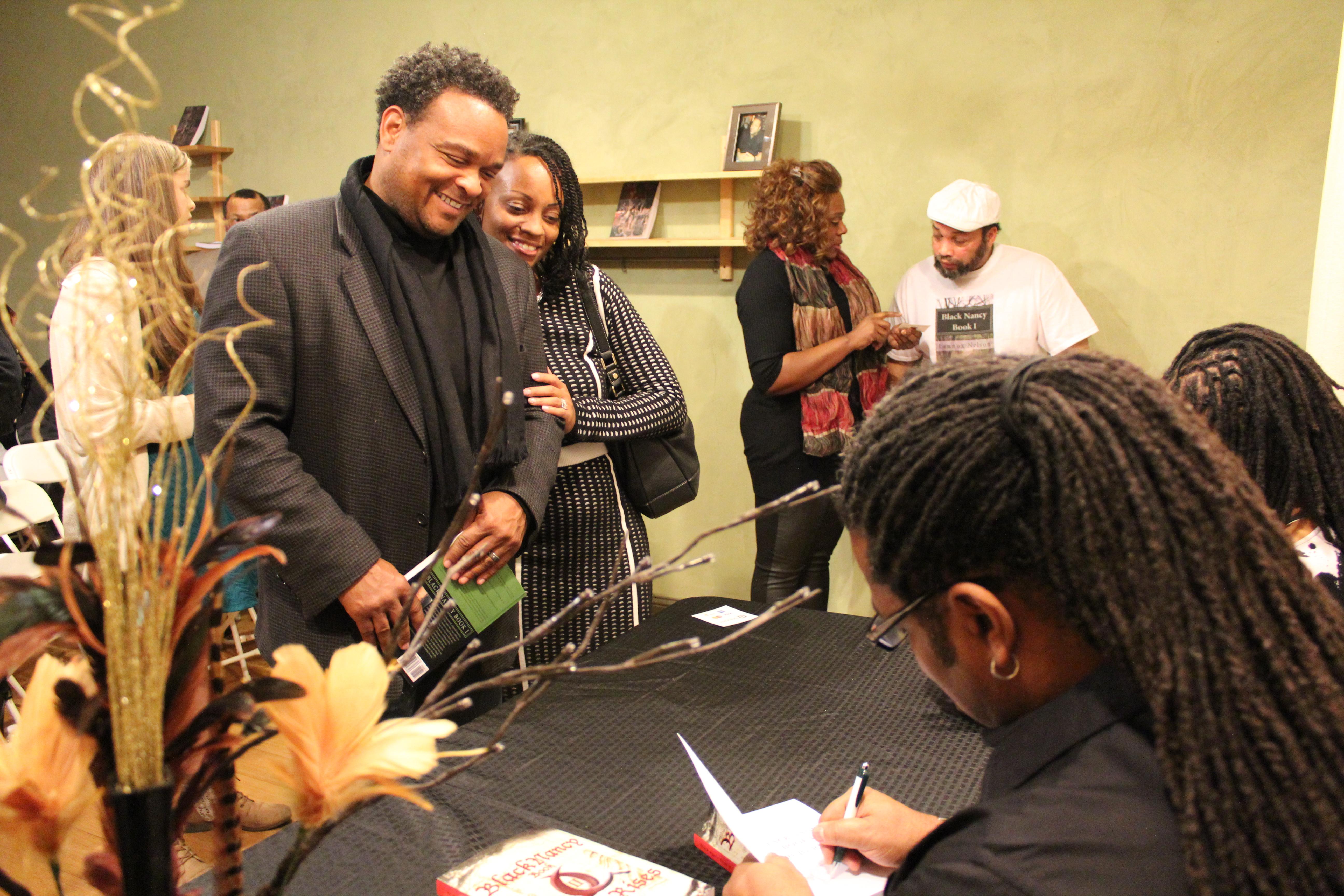 Lennox signing an original
