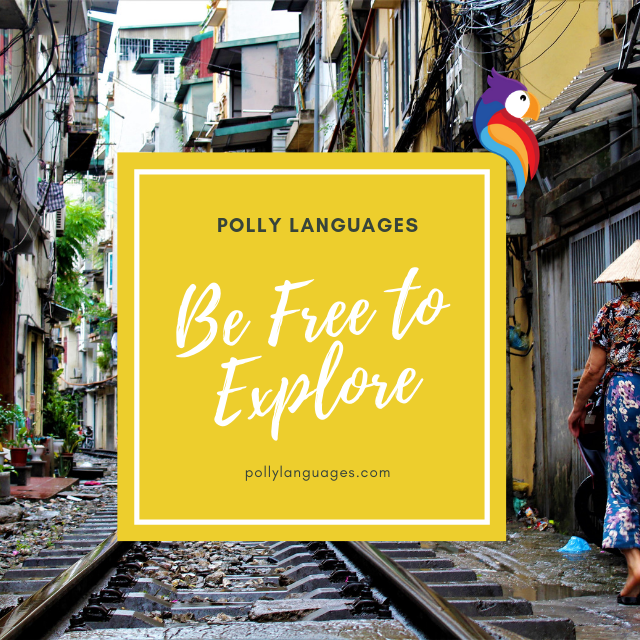 Be free to explore with polly logo