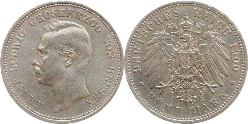 5 Mark Silber 1900