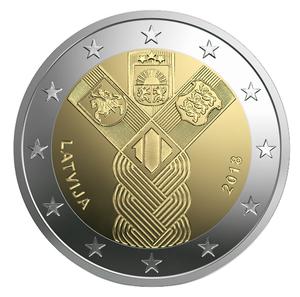 2 Euro, Cu/Ni, Quelle: Press Office of Latvijas Banka.