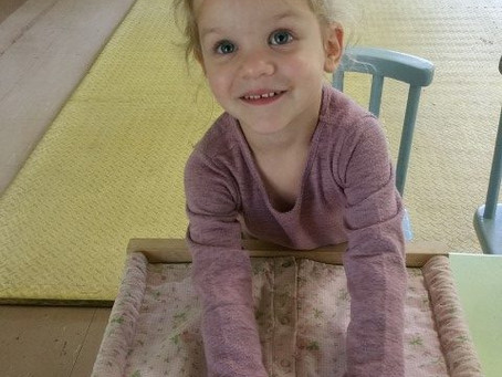 A Child Develops A Sense Of Independence With The Montessori Dressing Frames