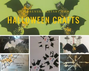 Bats and Spiders Halloween crafts