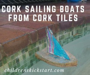 Cork sailing boats from cork tiles