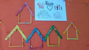 lolly stick frame house, ice cream stick frame house