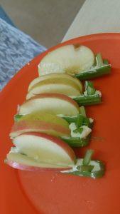 celery apple butterflies