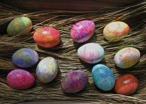 Easter Marbled Wax Eggs