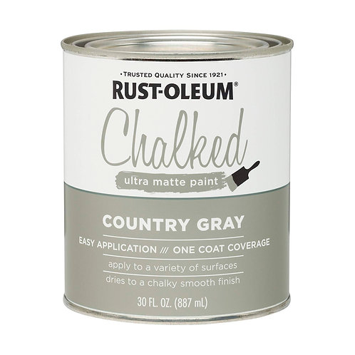 Pintura Tizada Chalk Paint Brochable Gris Campestre 0,887 L Chalked Rust Oleum