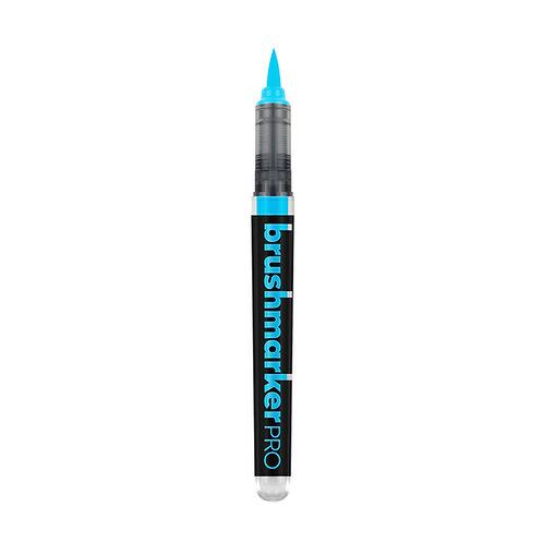 Marcador Karin Brushmarker PRO -Azul Fluor 6152