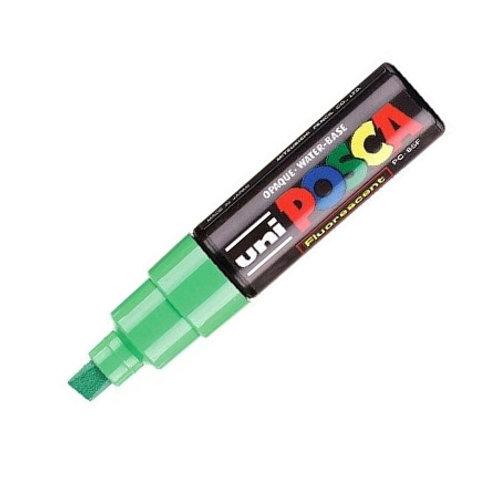 Marcador Uni Posca 8 mm Verde Fluo
