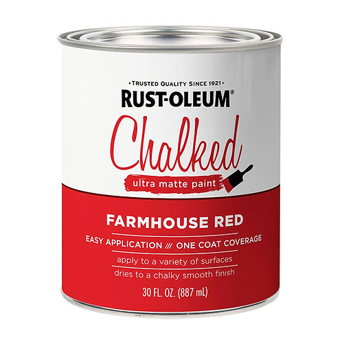 Pintura Tizada Chalk Paint Brochable Rojo Campestre 0,887 L Chalked Rust Oleum