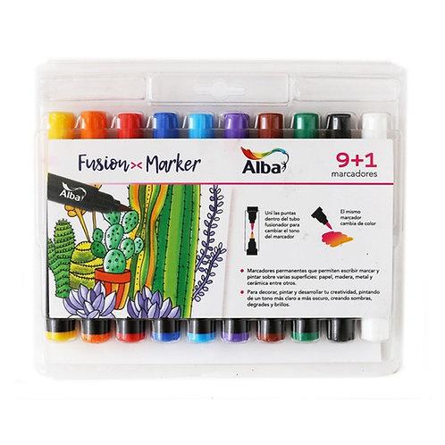 Marcadores Fusion Marker 9+1 Alba Artística