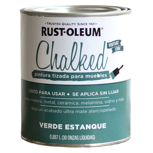 Pintura Tizada Chalk Paint Brochable Verde Estanque 0,887 L Chalked Rust O
