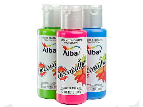 Acrílicos Decorativos Decoralba  Fluor 60 ml. Alba Artística