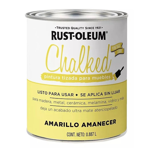 Pintura Tizada Chalk Paint Brochable Amarillo Amanecer 887 L Chalked