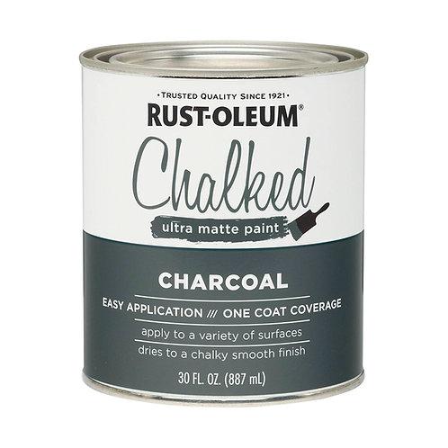 Pintura Tizada Chalk Paint Brochable Carbón 0,887 L Chalked Rust Oleum