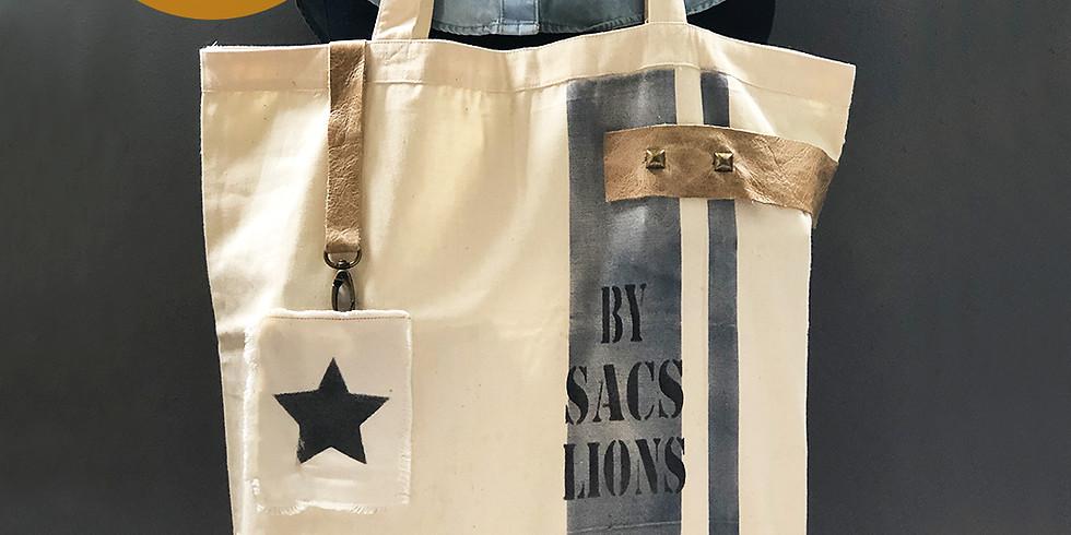 DIY - Tote Bag con Grain Sack Style- Técnica de Chalk Paint en tela