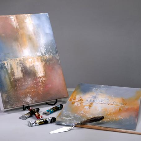 PINTAR con ÓLEOS / Diseño Abstracto (nivel principiantes)